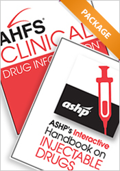 Package: AHFS Clinical Drug Info and ASHP's Interactive Handbook