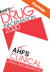 AHFS Clinical Drug Information and AHFS Drug Information 2018